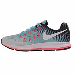 Nike Women's Air Zoom Pegasus 33 Running Shoe, Blue (7.5)