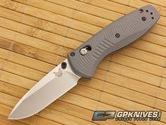 Benchmade 585-2 Mini Barrage Gray G10 and Satin Plain Edge CPM-S30V Blade | GPKNIVES.com