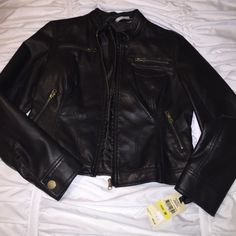 Sunset leather jacket size medium Brand new dark brown leather jacket!!!! Never worn Sunset Jackets & Coats