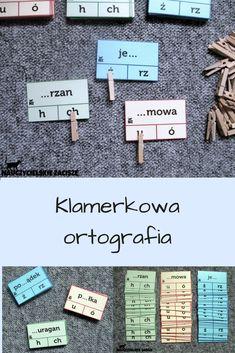 Klamerkowa ortografia - 90 kart z wyrazami z trudnościami ortograficznymi + 30 klamerek