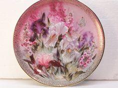 Iris Quartet Plate by Lena Liu Symphony of by GarageSaleGlass, $12.99