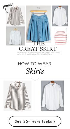 """The Great Skirt"" by rosys on Polyvore featuring White House Black Market, Glamorous, summertime, SpringStyle and spring2016"
