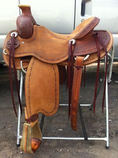 """16"""" Bowman Style Ranch Saddle ... I 'think' this saddle's 'round $2,500"""