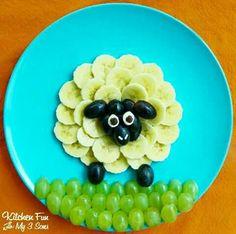 Piatti di frutta per bimbi
