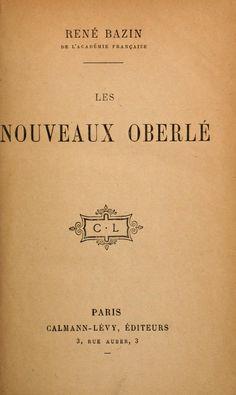 René Bazin, Les nouv