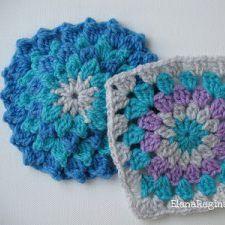 Schemi e Tutorial per realizzare mattonelle e piastrelle a uncinetto per coperte.