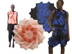 Aesthetic, textiles, japanese fashion designers, origami fashion, pattern d Origami Design, Origami Art, Origami Dress, Issey Miyake, Fashion Art, Trendy Fashion, Purple Fashion, Japanese Fashion Designers, Origami Architecture
