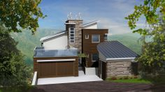 Altura Design of attached and small lot hillside contemporary LEED-certified luxury residential homes within a 120 acre sustainable community in North Carolina. Additional custom homes will be included in future phases.