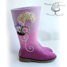 Boots - made ​​from wool. Handmade. Avtor-Didenko Svetlana from Ukraine.