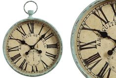 HUGE Pocket Watch Wall Clock - From Antiquefarmhouse.com - http://www.antiquefarmhouse.com/current-sale-events/accent13/metal-pocket-watch-wall-clock.html