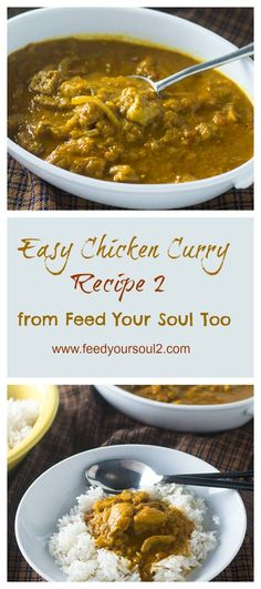 Authentic Chicken Curry from Feed Your Soul Too
