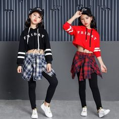 Kids Girls Culottes Sweatshirt Hip Hop Clothing Clothes Jazz Dance Costume for Girls Ballroom Dancing Pullover Streetwear online shopping mall, buying fashion dresses & rapid delivery. Start your amazing deals with big discounts! Hip Hop Outfits, Hipster Outfits, Outfits Casual, Kids Outfits, Cute Outfits, Modern Dance Costume, Jazz Dance Costumes, Dance Fashion, Hip Hop Fashion