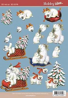 Hobby Idee Cut out sheet Christmas HI 0076 - Christmas