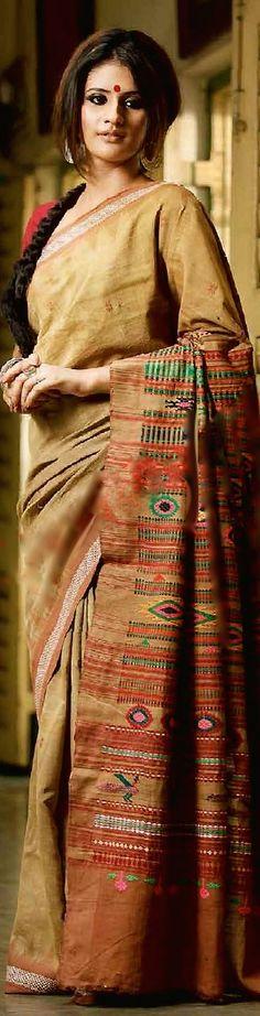 Odisha/ Orissa handloom Bomkai saree - original pin by @webjournal