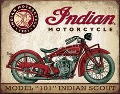 Tin Sign - Indian Scout
