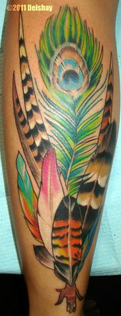 Tattoosday (A Tattoo Blog): Amy's Feathers from Hawai'i (updated)