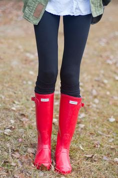 Personal Style Blog- Little Blonde Book. I love her red boots and the pop of glam they give her simple outfit!