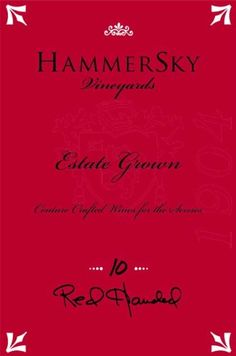 HammerSky 2010 Red Handed *** Visit the image link more details. (This is an affiliate link)