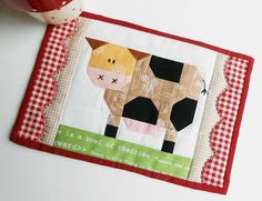 The Patchsmith: Patchwork Cow Mug Rug and Daisy Cow Blocks
