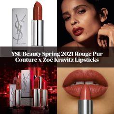 Ysl Beauty, Beauty Nails, Hair Beauty, Makeup News, Zoe Kravitz, Makeup Inspo, Yves Saint Laurent, Couture, Lipsticks