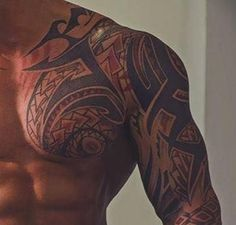 polynesian tattoos black and white Tribal Tattoos For Men, Tribal Sleeve Tattoos, Tattoos For Guys, Polynesian Tattoo Designs, Star Tattoo Designs, Head Tattoos, Body Art Tattoos, Men Henna Tattoo, Scottish Tattoos