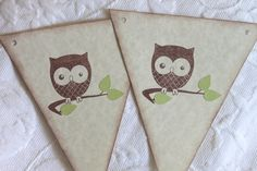 EXTRA LONG Pennant Banner  Baby Owl  Gender by queenofpapercards, $9.00