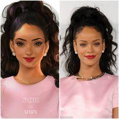 Arte contra la realidad - Rihanna por NUMYUMY