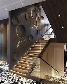 Amazing Luxury Interior Design That Will Make Your Home Inspiration Decoration Modern Staircase Amazing decoration design Home Inspiration interior Luxury Home Stairs Design, Railing Design, Interior Stairs, Loft Design, Modern House Design, Railing Ideas, Staircase Design Modern, Stair Design, Design Design