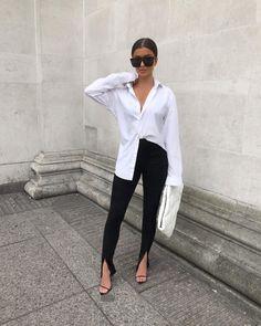 ready for some sunshine ☀️ Boyfriend Shirt Outfits, White Shirt Outfits, Cute Casual Outfits, Casual Chic, Stylish Outfits, Oversized Shirt Outfit, Oversized White Shirt, Mode Outfits, Fashion Outfits