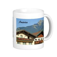 Shop Austria - Souvenir Mug created by stdjura. Personalize it with photos & text or purchase as is! Travel Souvenirs, Austria, Traditional, Mugs, Tableware, Switzerland, Photography, Travel Memories, Dinnerware