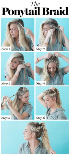 "Editor Tip: ""This is such a badass take on your typical ponytail braid. Just be sure not to 'pancake' too much, unless you don't care about your shorter pieces sticking out all over the place."""