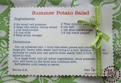 Summer Potato Salad (SSG #19) | Positively Splendid {Crafts, Sewing, Recipes and Home Decor}