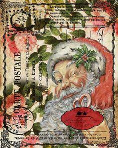 Christmas Santa Vintage Christmas Printable by MoonlightingByMary, $5.00