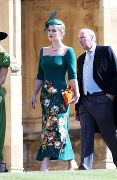 Lady Kitty Spencer In Dolce & Gabbana - What Celebrity Guests Wore To Meghan Markle And Prince Harry's Wedding - Photos