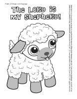 Psalm 23 Lamb Sheep Coloring Page