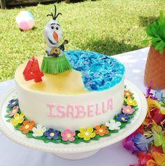 Frozen olaf in summer cake