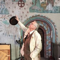 Albertus Fluctor i Tensta kyrka. #lockhatters #bladen #tweedsuit #tweed #vintagemannen #welldressed #welldressedmen #dapper #dapperman #dandy #menwithstyle