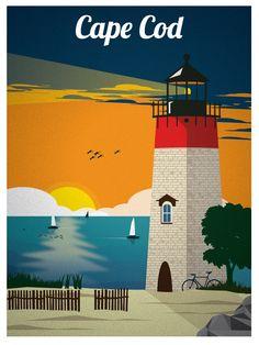 Vintage Cape Cod Print