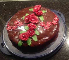 Schokolade Marzipan Kuchen