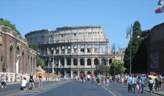 All roads lead to Rome | The Colosseum on a fine day.