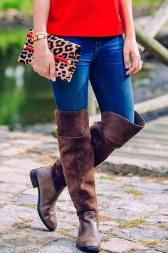 2436309180b Raise your hand if you re loving tall suede boots this season! Style tip