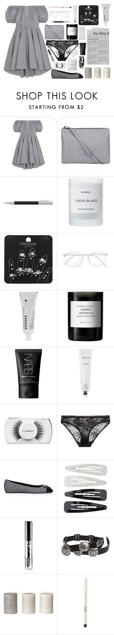 """""""in the parking lot"""" by mashleydee ❤ liked on Polyvore featuring Caroline Constas, Faber-Castell, Byredo, Topshop, RetroSuperFuture, Korres, NARS Cosmetics, Rodin, MAC Cosmetics and STELLA McCARTNEY"""