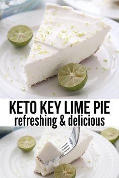 Low Carb Sweets, Low Carb Desserts, Easy Desserts, Easy Delicious Desserts, Key Lime Desserts, Diet Desserts, Low Carb Pie Recipe, Low Carb Recipes, Sugar Free Key Lime Pie Recipe