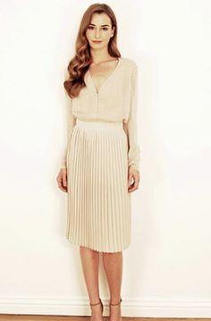 ESTILO LADYLIKE:Vestidos y faldas en corte A. Estos harán que te veas más elegante.