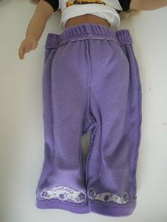 make  doll pants from baby clothes
