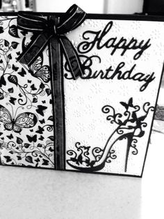 Birthday card using Tattered Lace die