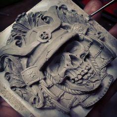 Samurai buckle sculpture WIP part 2 by fourspeedindonesia on deviantART