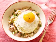 Ham, Egg and Cheese Oatmeal Recipe : Food Network Kitchen : Food Network - FoodNetwork.com