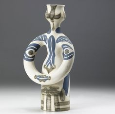 picasso ceramics catalog | lot 615 615 picasso madoura figural ceramic vase view catalog