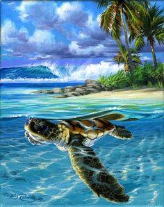 Baby Sea Turtle acryllic from Phil Roberts (Phil Roberts Studio)
